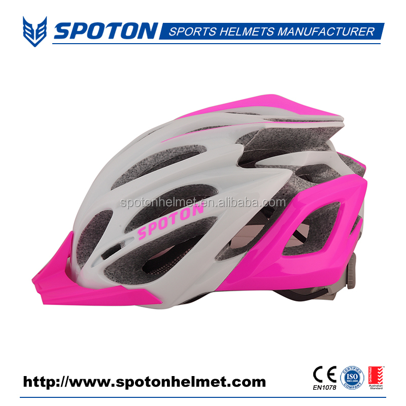 High Quality Pink Colorful Bicycle PVC Helmet Safety Cycling Helmet