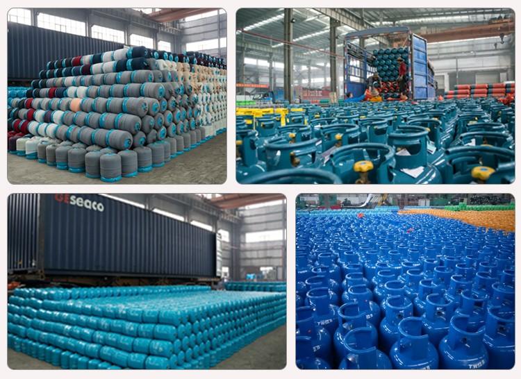 중국 제조 업체 45 키로그램 대용량 스테인레스 스틸 LPG 가스 실린더