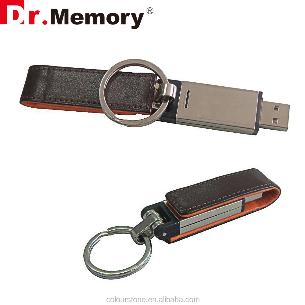 Dr.memory genium leather metal usb pendrive colorful leather embossed logo usb memory stick