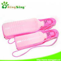 convenience pet drinking bottle plastic outside used