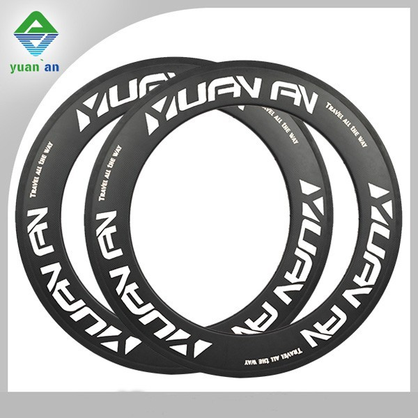 custom logo cyclocross carbon rims 25mm wide 88mm high tubular or tubuless carbon rim for farsports