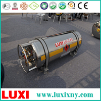 High Pressure Composite Cylinder LNG Gas Cylinder Tank Hydraulic Cylinder , 9 Tube Lng Cascade Container