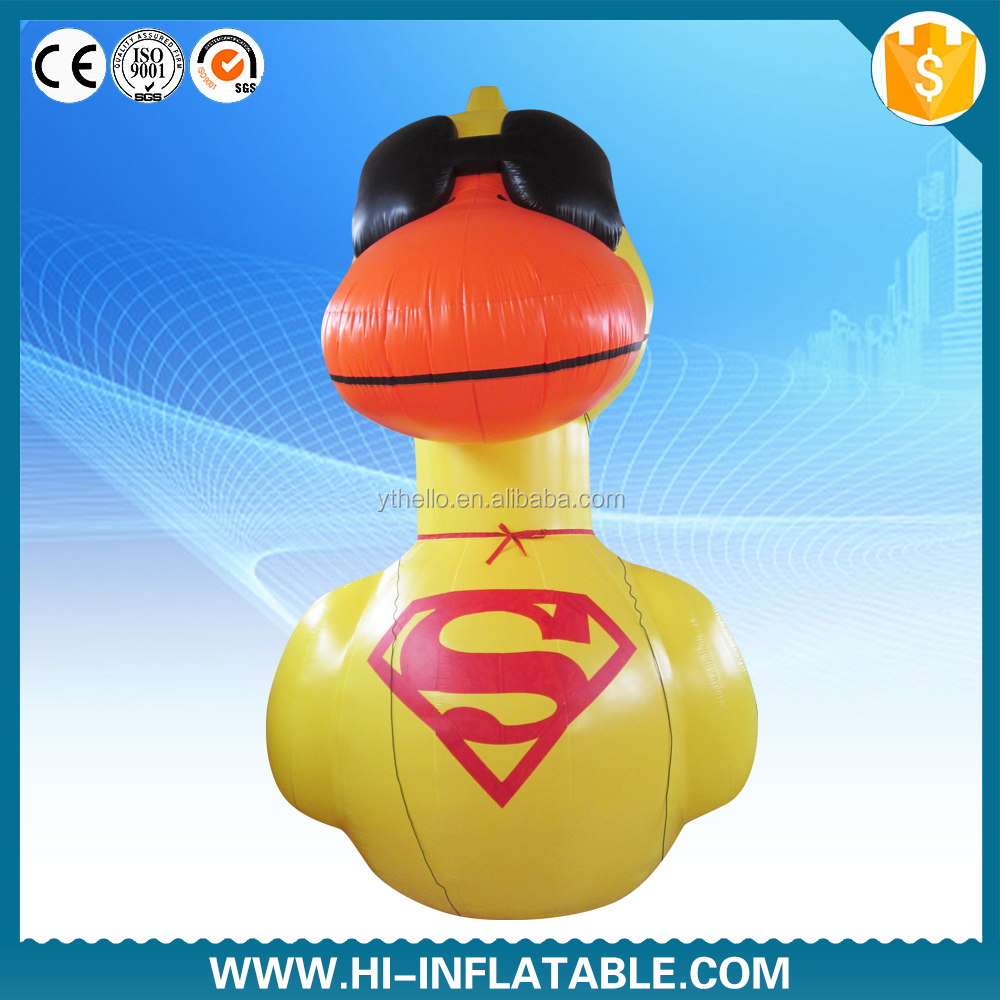 Customized logo printing Giant inflatable super duck /advertising yellow duck /inflatable cartoon duck