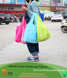 China Factory Promotional Nylon Or Polyester Folding Tote Bag From XIAMEN