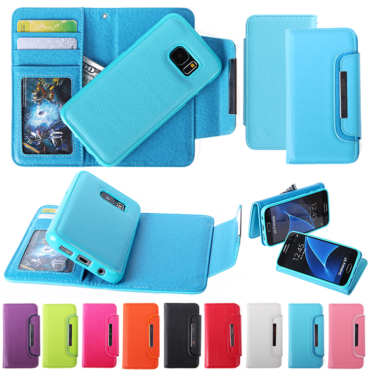 2 in 1 leather mobile phone case for S8,for Samsung wallet pu leather case for S8
