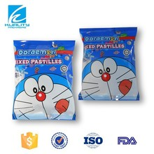 OEM biodegradable center seal candy wrapper bag