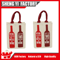 Wholesale Promotional Custom Cheap Wine bottle Tote Carring Bag Wine Bag