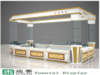 customize cheap lockable MDF jewelry display kiosk showcase for sale