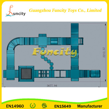 Large-scale Inflatable Floating Water Park / Inflatable Fun Park With EN15649 Approved