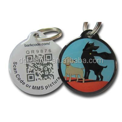 First class printing id dog tag laser engraved with lovely dog