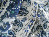100% polyester afican printed patterned floral crinkle chiffon fabric