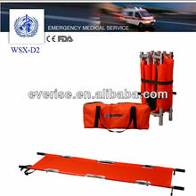 @aluminum first aid rescue medical emergency patient transport 4 folding stretcher,lengthwise and widthwise foldable stretcher