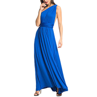 party blue highlight beautiful ladies 2018 new model chiffon long evening dress