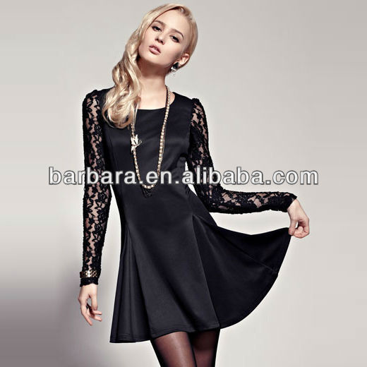 Elegant Lace Sleeve Dress ladies smart casual dress