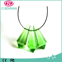 China Yiwu High Quality Peridot Green Water Drop Glass Beads with hole
