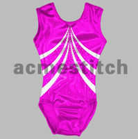 Crystal rhinestone gymnastic leotard .Competition leotard
