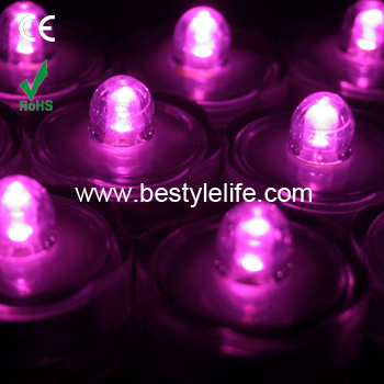 Button battery operated LED waterproof tea lights