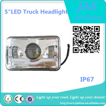 "5"" Led Square Headlights Led working light for truck auto square led headlight"