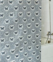 www.fb.com blackout beautiful butterfly printed swag shower curtain
