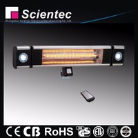Electric Wall Mounted Outdoor Led Light Heater 1800W CE,GS Approval
