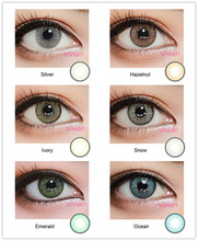 6 colors soft lens wholesale price very cheap cosmetic colored contacts