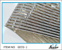 Hot fix crystal sheets adhesive sequnis trim iron on rhinestone crystal beaded mesh crystal sheet