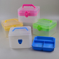 Single Buckle Multi-use plastic storage box organizer with handle