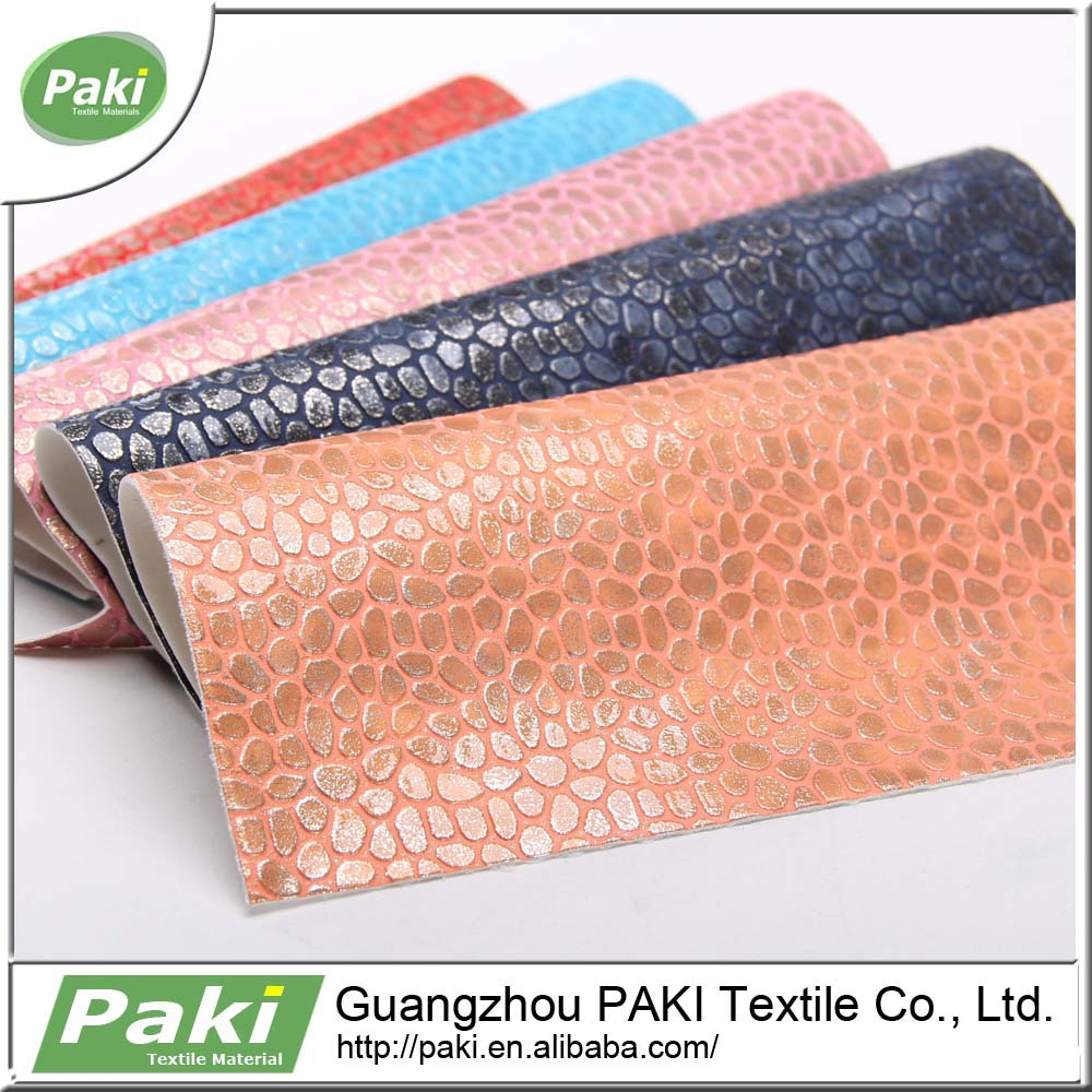 Stone Pattern 100% PU Synthetic Leather Embossing Pu Leather For Bags