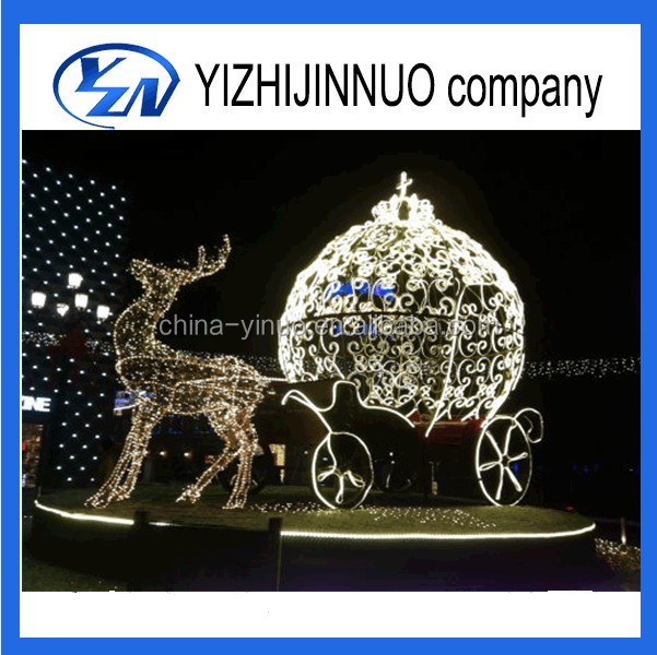 Yizhinuo Christmas Led Lighted Pumpkin Carriage cinderella cart/wagon