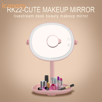 Innovative design 2018 desktop cordless led lighted makeup mirror