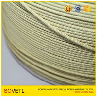 AAA grade FR Kevlar Aramid Flame Resistant Rope for Military Tent