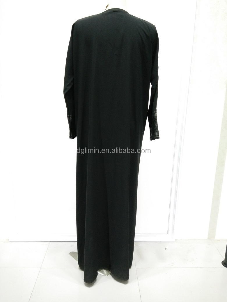 Black Abaya OEM Service Long Elegant Robes Factory Direct Sale Muslim Dress