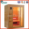 Hemlock wood material wooden Infrared sauna room portable home sauna room