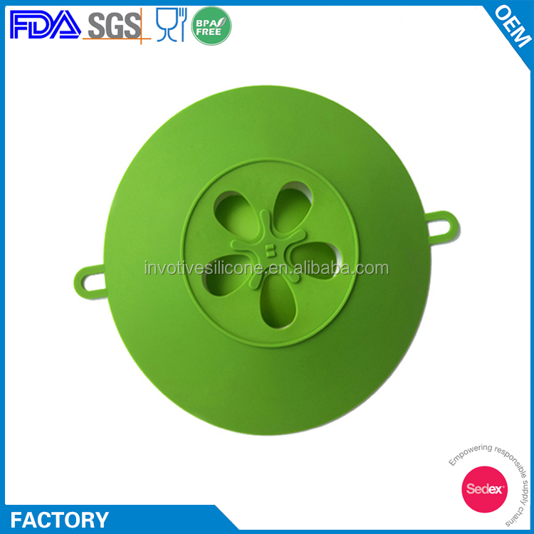 Flexible Custom Flower Shaped Silicone Cooking Pot Bowl Cover Lids