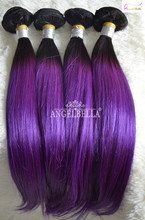 Angelbella High Quality Wholesale Brazilian Ombre Bundles Hair Weaves Ombre Hair Extension