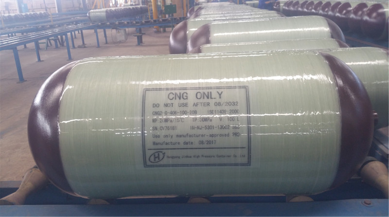 OD 356 mm 90L Hoop-wrapped composite cng gas cylinder for car (type 2 )