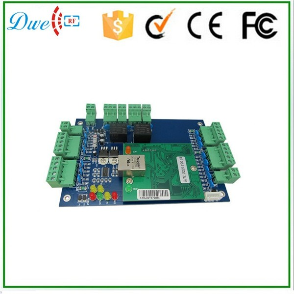 RFID Network TCP/IP 2 Doors Access Controller Board with free software