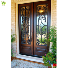 exterior rustic double wrought iron security metal screen entry doors