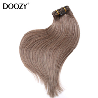 wholesale double weft brazilian remy clip human hair extension