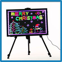 Led outdoor lighting writing board with flourescent marker pen