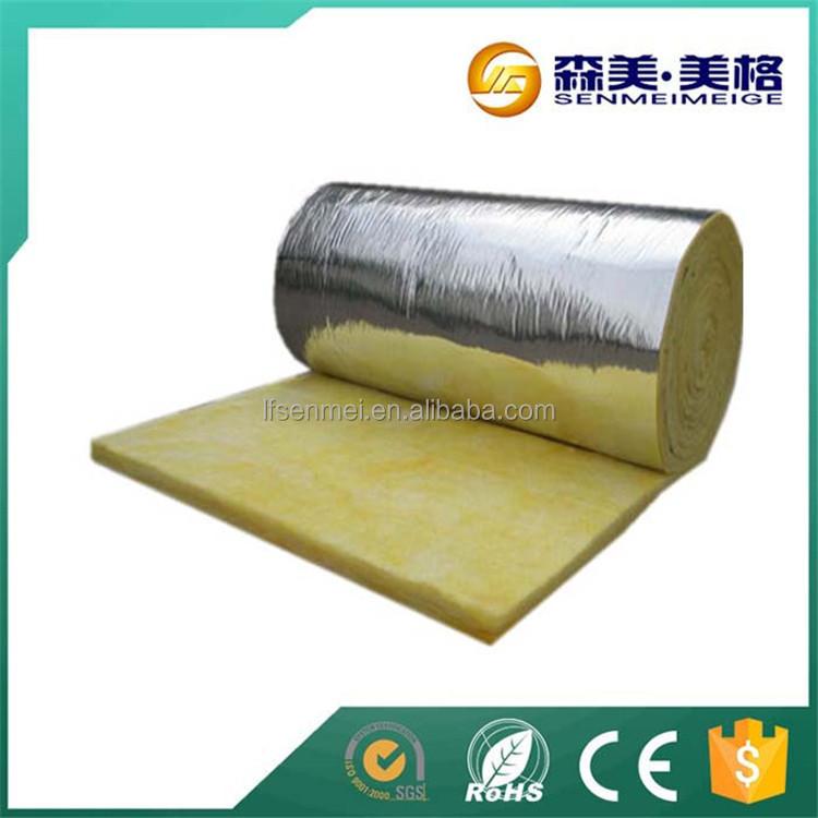 Grade a waterproof pvc faced fiberglass insulation with for 6 fiberglass insulation r value