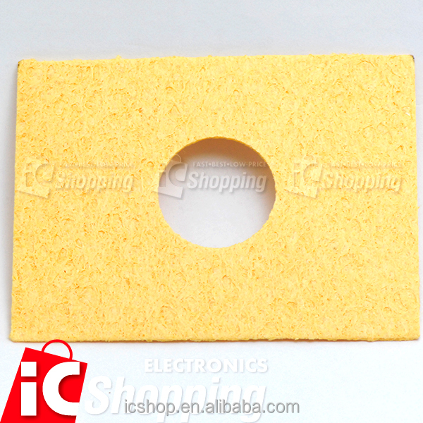 On Sale ICshopping cleaner 65x85mm Middle <strong>Hole</strong> Compress Soldering Iron Tip Sponge