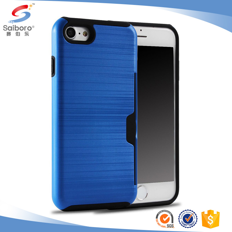 Brushed Card Slot Cell phone case/Mobile Phone Back Case/Cover for iPhone 6/7
