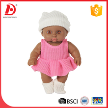 8.5 inch very cheap black baby doll dress up games for girl