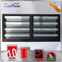 Aluminum single low e glass louver blade shutter blade window with stainless steel security mesh
