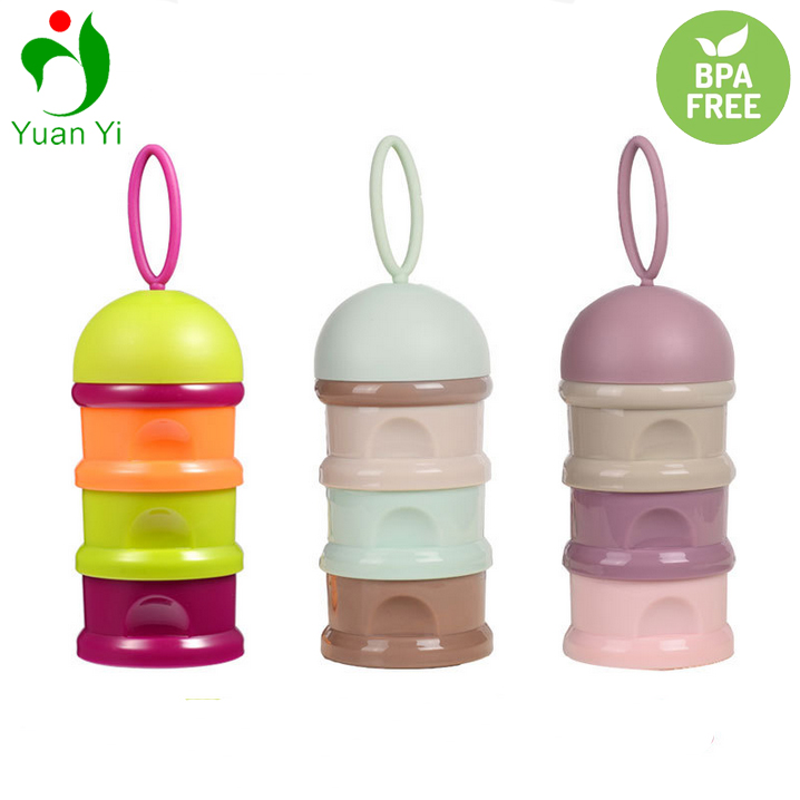 Best Selling Portable Stackable Baby Milk Powder Formula Dispenser/Food Storage Containers/Snack Cup