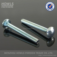 DIN603 large mushroom head square neck carbon steel carriage bolt M5*25