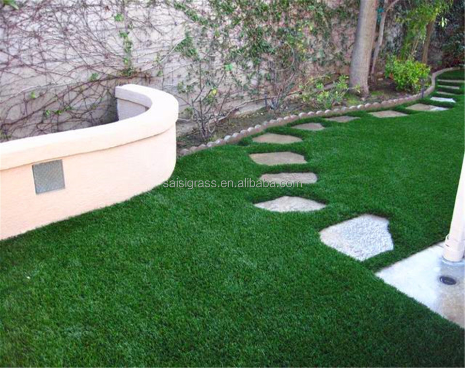 Natural look soft feel artificial turf for home decoration