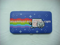 Fashion Customized Printing Design PU Hinge Purse/Metal Frame Wallets/Clutch Bag For USA