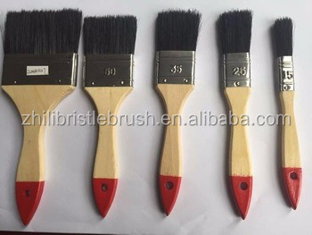 high quality water-based wooden handle paint brush